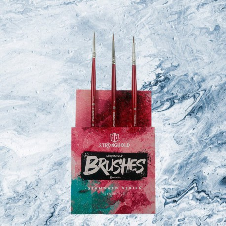 Stronghold Brushes Pack Standard Series (Size 000, 1, 2)