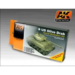 Olive Drab Color Set