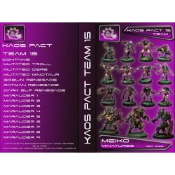 Kaos Pact Equipos de 15 Jugadores con Big Guys