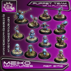 Puppet Team of 14 Players con Big Guy