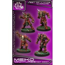 Set of 4 Kaos Warriors