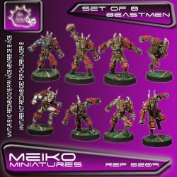 Set of 8 Beastmen