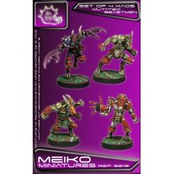 Set of 4 Mutated Beastmen