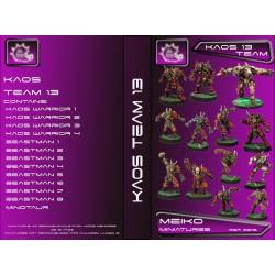Kaos Team of 13 Players with Minotaur
