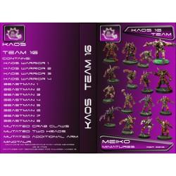 Kaos Team of 16 Players with Minotaur