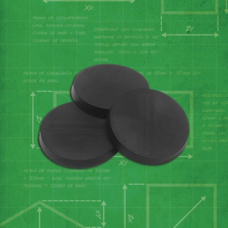 (20) Round Bases 25mm