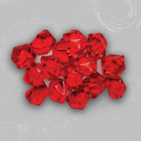 Red Gem Acrylic Tokens (50)