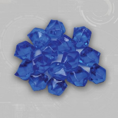 Blue Gem Acrylic Tokens (50)