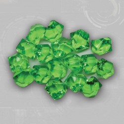 Green Gem Acrylic Tokens (50)