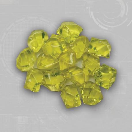 Yellow Gem Acrylic Tokens (50)