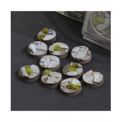 Temple Bases Round 25mm (x10)