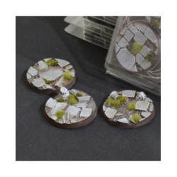 Temple Bases Round 50mm (x3)